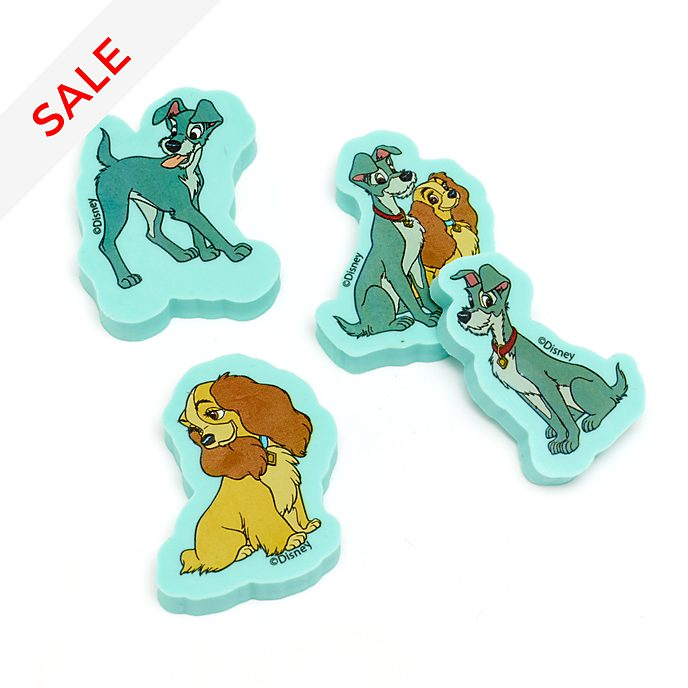 Disney Store Lady and the Tramp Erasers