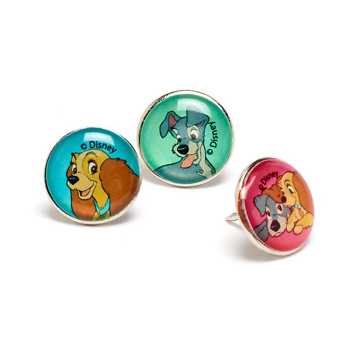 Disney Store Lady and the Tramp Push Pins