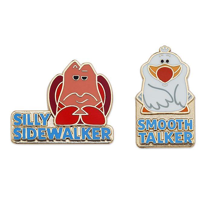 Disney Store Sebastian and Scuttle Pin Set, The Little Mermaid