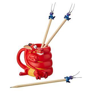 Astuccio e matite Mushu e Cri-Kee Mulan Disney Store