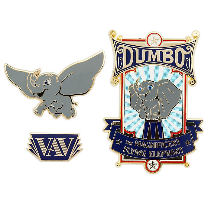 Disney Store Lot de 3 pin's Dumbo