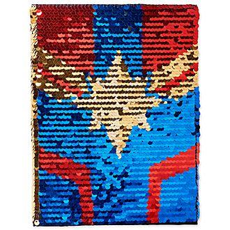 Disney Store - Captain Marvel - Notizbuch mit Wendepailletten