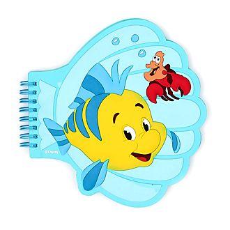 Cuaderno con forma de concha Flounder y Sebastián, La Sirenita, Disney Store
