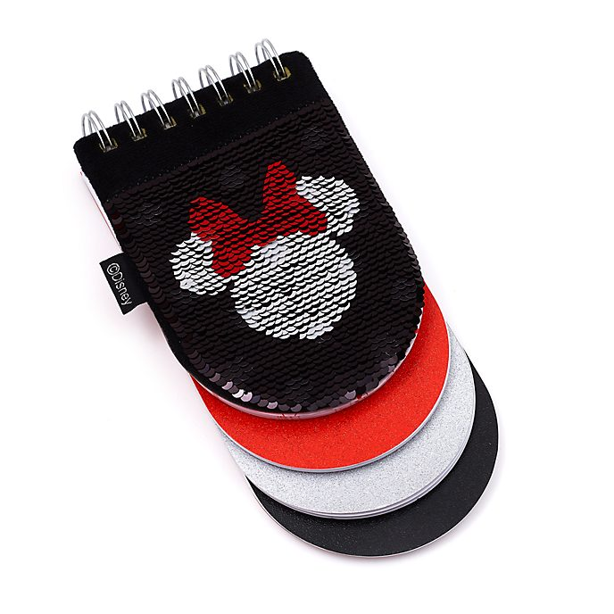 Disney Store Minnie Mouse Sectioned Reversible Sequin Notebook
