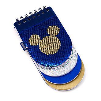 Quaderno con paillettes reversibile suddiviso in sezioni Topolino Disney Store
