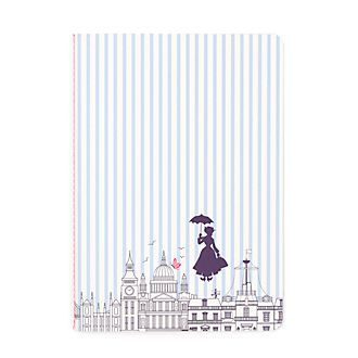 Disney Store Mary Poppins Returns Pinstripe Notebook