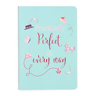 Disney Store Mary Poppins Returns Slogan Notebook