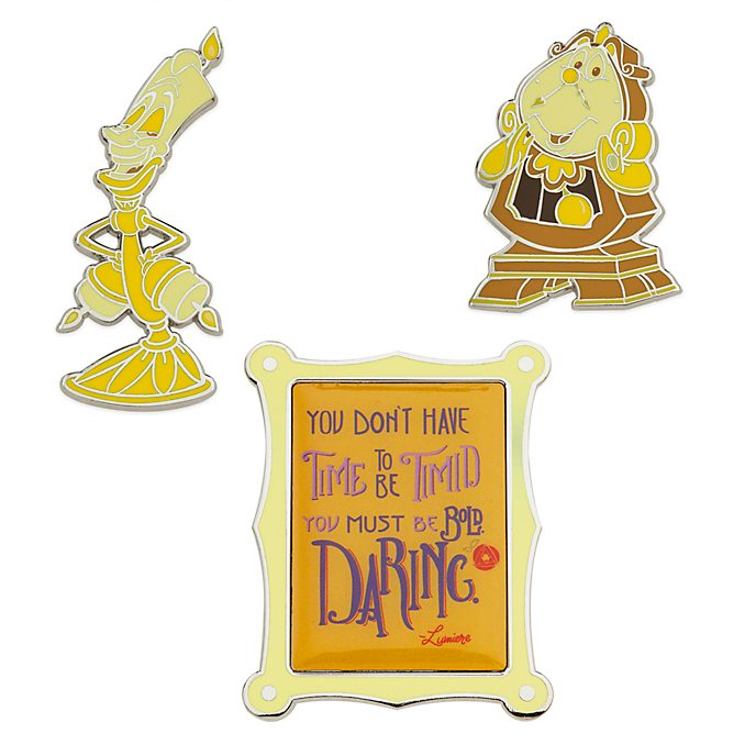 Disney Store Lot de pin's La Belle et la bête, collection Disney Wisdom, 6 sur 12