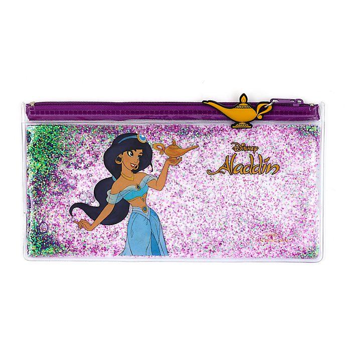 Estuche lápices relleno de purpurina, princesa Jasmine, Disney Store