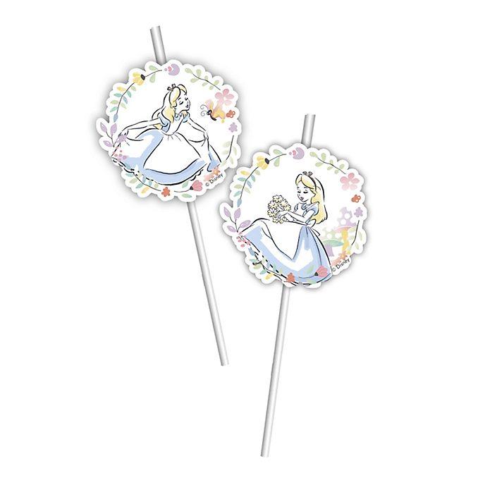 Walt Disney World Alice in Wonderland x6 Bendy Straws