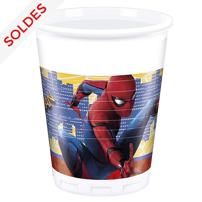 Lot de 8gobelets de fête Spider-Man: Homecoming