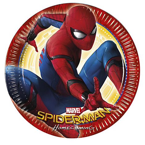 Lot de 8 assiettes de fête Spider-Man: Homecoming
