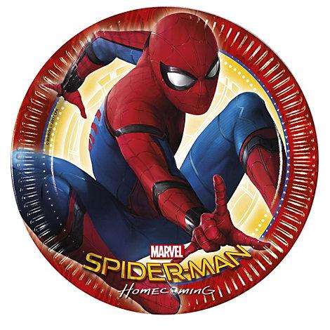 Spider-Man Homecoming festtallerkener, 8 stk.