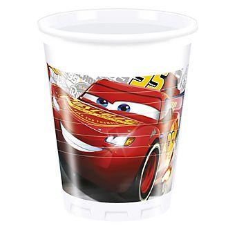 Set de 8 vasos de plástico de Disney Pixar Cars3