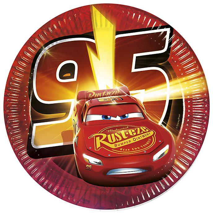 Set de 8 platos de fiesta de Disney Pixar Cars3