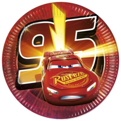Lot de 8 assiettes de fête Disney Pixar Cars 3