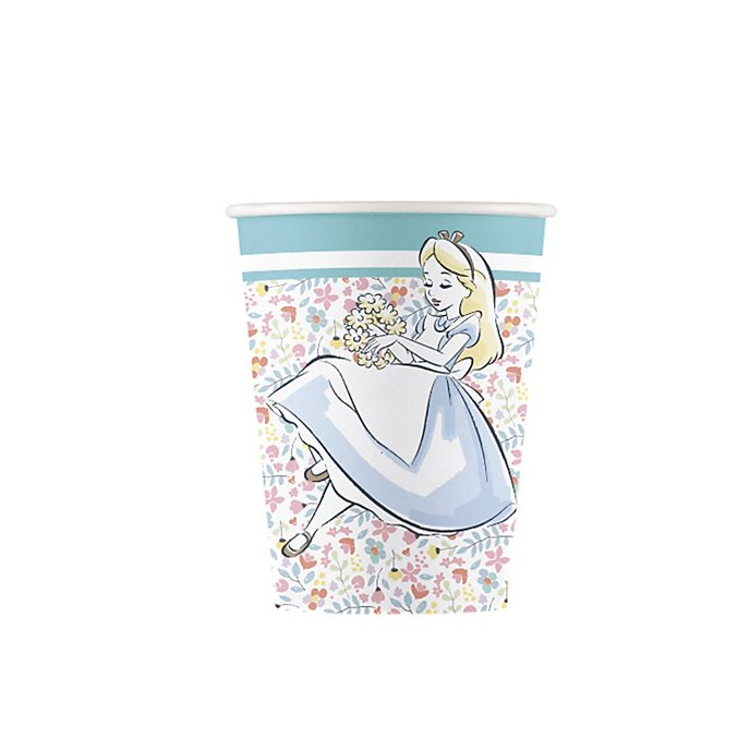 Disney Store Alice in Wonderland x8 Party Cups
