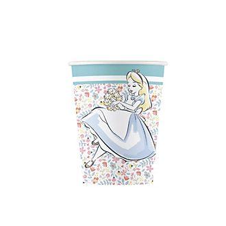 Disney Store Alice in Wonderland x8 Party Cups