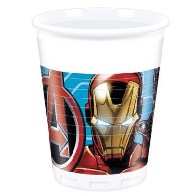 Set 8 vasos fiesta, Los Vengadores de Marvel