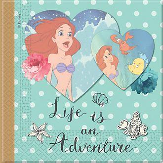 Disney Store Lot de 20serviettes de fête La Petite Sirène