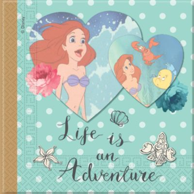 The Little Mermaid 20x Party Napkin Pack
