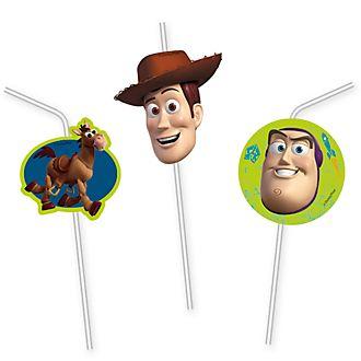 Set 6 pajitas flexibles, Toy Story, Disney Store