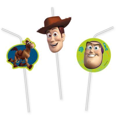 Set 6 pajitas flexibles, Toy Story