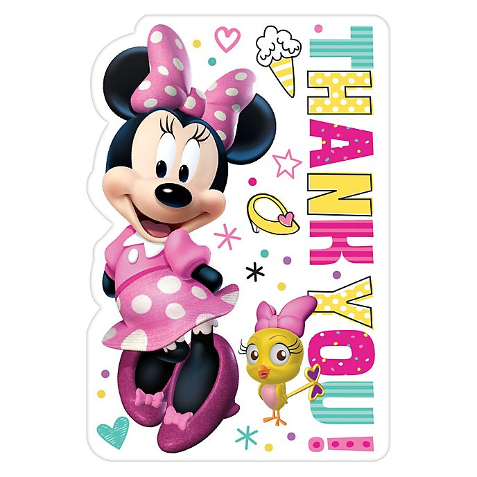 Disney Store Minnie Mouse 8x Thank You Cards