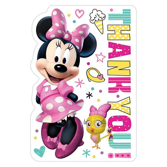 Tarjetas agradecimiento Minnie, Disney Store (8u.)