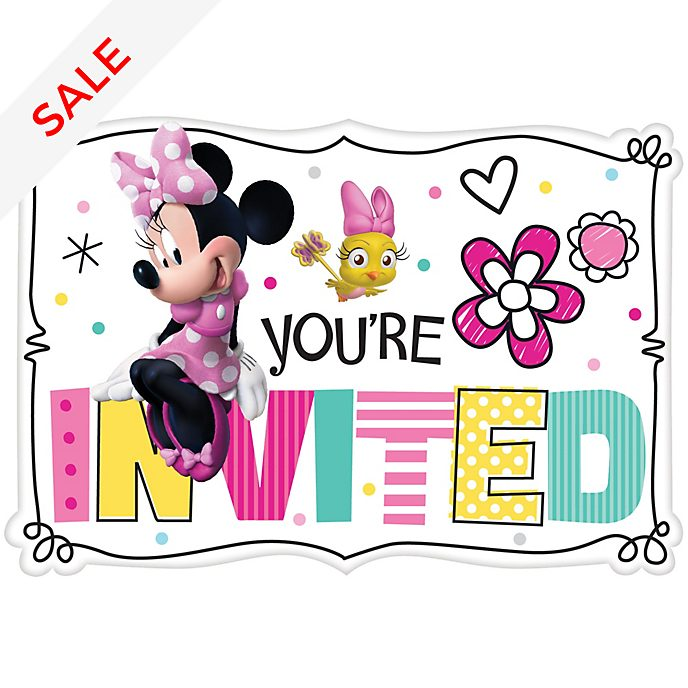Disney Store - Minnie Maus - Partyeinladungen, 8-teiliges Set