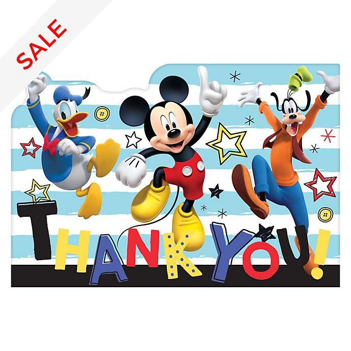 Disney Store - Micky Maus und Freunde - 8 Dankeskarten
