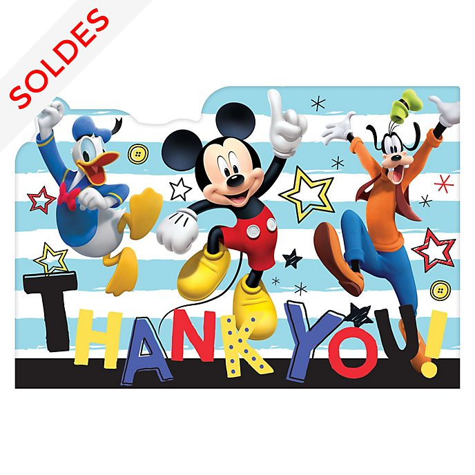 Disney Store Lot de 8cartes de remerciement Mickey et ses amis