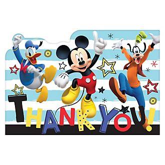 8 cartoline di ringraziamento Topolino e amici Disney Store