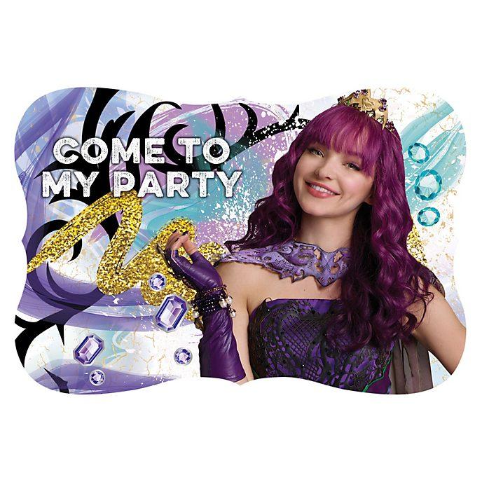 Invitaciones para fiesta Los Descendientes 2, Disney Store (8u.)