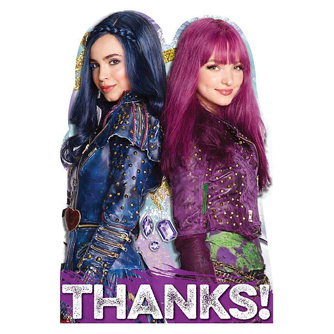 8 Cartoline di ringraziamento Descendants 2 Disney Store