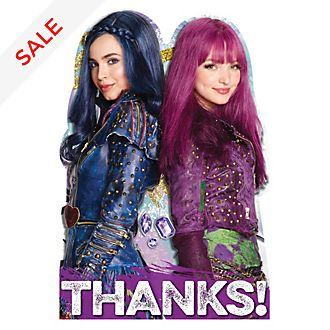 Disney Store Descendants 2 8x Thank You Cards