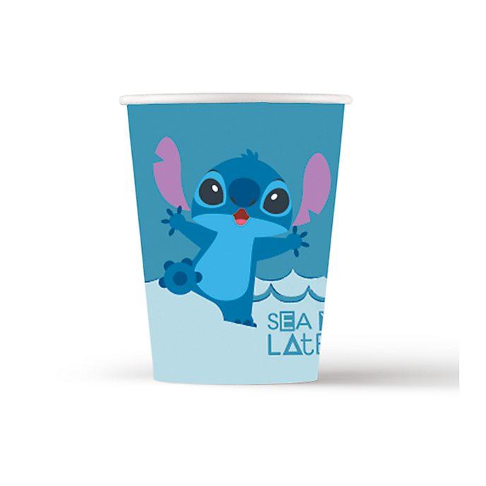 Disney Store Stitch e Angel, 8 bicchieri monouso
