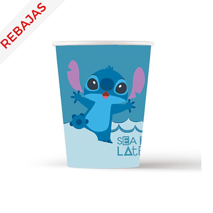 Set 8 vasos de fiesta, Stitch y Ángel, Disney Store