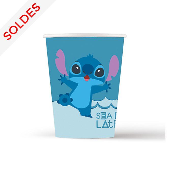 Disney Store Lot de 8gobelets de fête Stitch et Angel