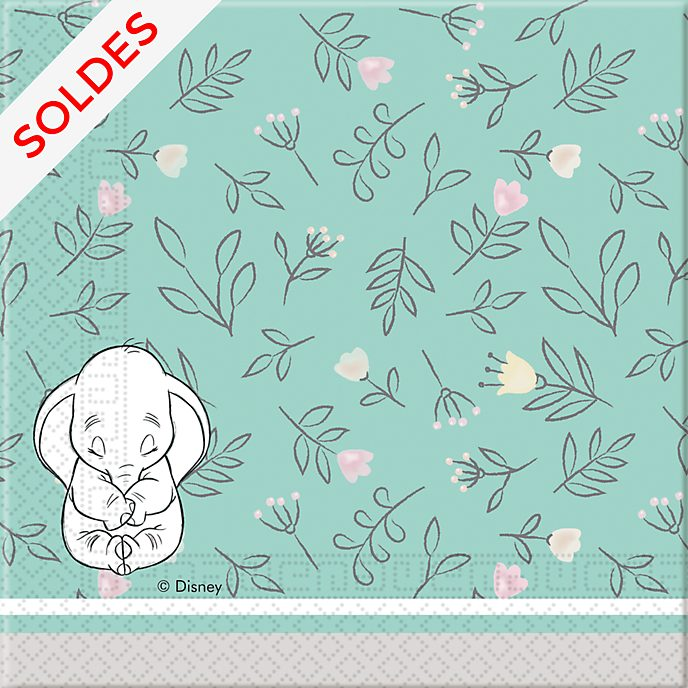 Lot de 20 serviettes de fête Disney Baby