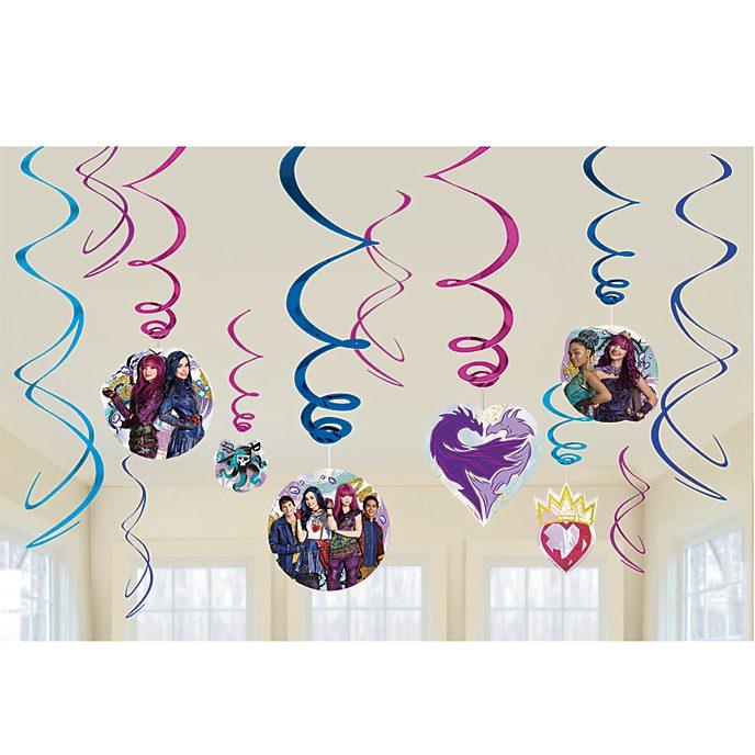 Adornos espirales fiesta Los Descendientes 2 Disney, Disney Store