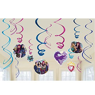 Disney Store Disney Descendants 2, decorazioni a spirale per festa