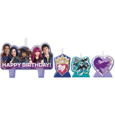 Lot de bougies d'anniversaire Disney Descendants2