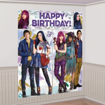 Disney Descendants 2 - Party-Wanddekoration