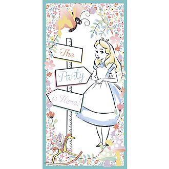 Cartel para la puerta de Alicia en el País de las Maravillas, Disney Store
