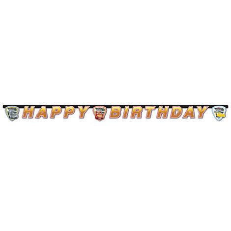 Cartel feliz cumpleaños Disney Pixar Cars 3