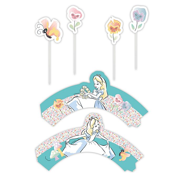 Disney Store Alice in Wonderland Cake Decorating Set