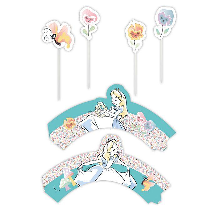 Disney Store Lot de décorations pour gâteaux Alice au Pays des Merveilles