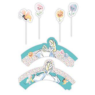 Disney Store Alice nel Paese delle Meraviglie, set per decorazione dolci