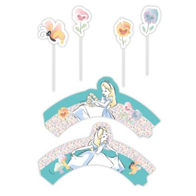 Alice im Wunderland - Kuchendekorationsset